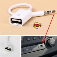 3.5mm mp3 Male AUX Audio Plug Jack To USB 2.0 Female Converter Car Adapter Cable
