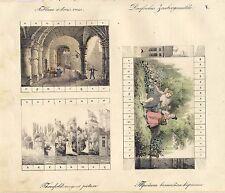 Zaubergemälde - Tableau a tros vues - Threefold magique picture - 1834