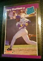 1989 DONRUSS #31 GARY SHEFFIELD ROOKIE CARD RC MILWAUKEE BREWERS GEM MINT
