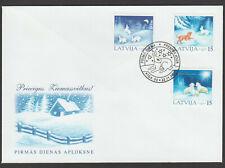 Latvia 2001 Christmas FDC