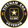 Vietnam Era Veteran Military Vinyl Sticker Car Truck Window Decal US Army Bumper