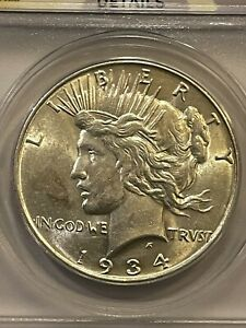 1934-D Peace Dollar Certified VAM3A DDO Large D Top 50 No Reserve,See Pictures