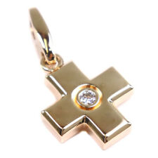 AUTHENTIC CARTIER cross Pendant top K18 yellow gold/diamond Women