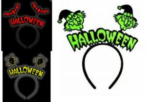 HALLOWEEN HEADBAND WITCH SPIDER BAT BOPPER HORROR FANCY DRESS PARTY