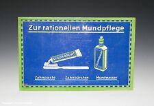 Pappaufsteller...Mundpflege CHLORODONT um 1920