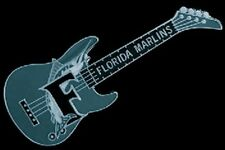 Florida Marlins Guitar Pin ~ MLB ~ Baseball