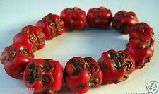 Exquisite Chinese Turquoise Handmade Bracelet w Buddha N