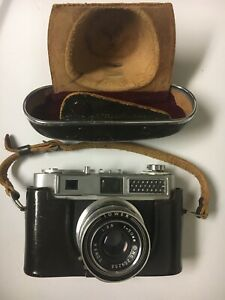 Tower 57-A 1:2.8 50mm No. 259233 Camera Tower Lens with Leather Strapped Case