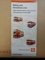 London Transport Bus Map Timetable Route Ealing 25/05/2002 29.5