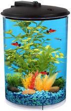 3 Gallon Round AquaView Aquarium Fish Tank Power Filter LED Lighting 7 Colors!
