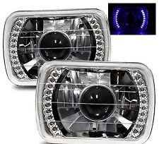 1986-1989 Acura Integra 7X6 H6014/H6052/H6054 Chrome Crystal Square Projector...