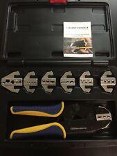 Haisstronica Crimping Tool Set 8 Pcs Quick Change Ratchet Wire Crimper Tool Case
