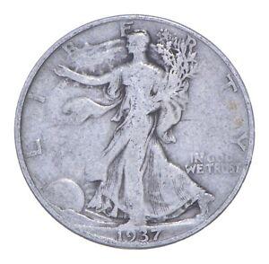 1937-D Walking Liberty 90% Silver US Half Dollar *047