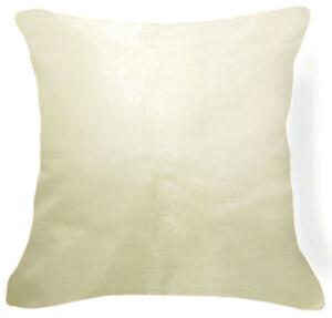 Jb201a 2 Pcs Beige Ivory Poly Taffeta Plain Cushion/Pillow Cover Custom Size