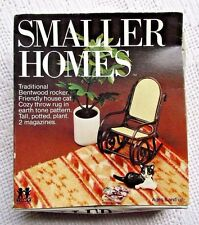 TOMY SMALLER HOMES DOLLHOUSE FURNITURE IN BOX:ROCKING CHAIR&PLANT&CAT&MAGAZINE++