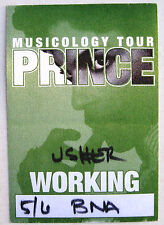 PRINCE Tour PASS Musicology USA 2004 Nashville Tennessee 6th May rare UNUSED