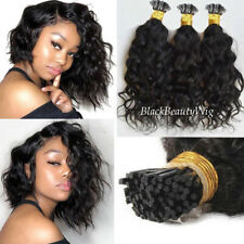 Short Loose Wave I Tip Hair Extensions Pre Bonded Remy Hair I Tip Fusion Hair