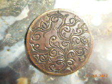 1940 Jamaica One Penny Hand Engraved Scroll Work Freehand Design