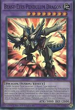 3 X YU-GI-OH: BEAST-EYES PENDULUM DRAGON - SUPER RARE - BOSH-ENSE1 - LIM EDITION