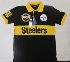 Klew NFL Pittsburgh Steelers Rugby Polo Short Sleeve Shirt Men's New