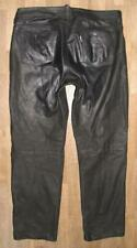"Huge : Speckige Men's Leather Jeans/Nubuk- Pants IN Black W38 "" / L32 """