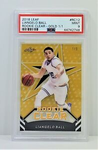 2018 Leaf Gold Acetate Rookie Clear #RC12 Liangelo Ball Card 1/1 PSA 9 F7