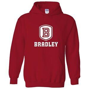 Bradley University Braves Primary Logo Hoodie - Red