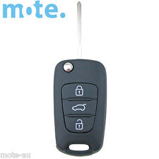 Complete Hyundai i30 i20 Elantra 3 Button Flip Key Replacement Remote Trasponder