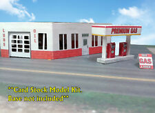 N Scale Building - Gas Station - Service Station  Cardstock kit