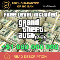 GTA V ONLINE 1 BILLION MONEY $1.000.000.000 GRAND THEFT AUTO 5 + LVL 500