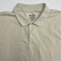 Merona Polo Shirt Men's Size 2XL XXL Short Sleeve Tan Classic Fit Cotton Blend