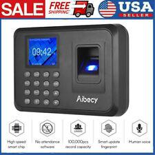 Biometric 24lcd Attendance Machine Fingerprint Password Time Clock Reader N1i3