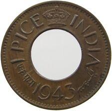 INDIA 1 PICE 1943  #LR 355