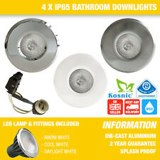 BATHROOM / SHOWER 5W LED DOWNLIGHTS SOFFIT LIGHTS CHOICE OF 3 COLOURS X 4
