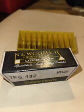 Newcomer Coated Insert Metal Cutting Carbides 1 Box 10 Bits Nos Tpg 432 Nn25