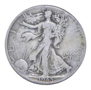 1945-D Walking Liberty 90% Silver US Half Dollar *601