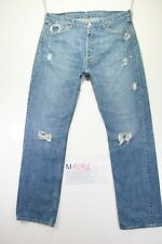 Levi's 501 Destroyed (Cod. M1491) tg50 W36 W34 jeans usato Vita Alta