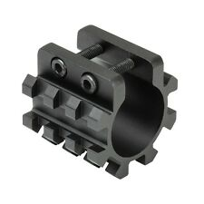"NcStar MT12G 12G Shotgun Magazine 1"" Tube Tri-Rail Weaver Mount Laser Flashlight"