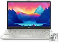 "NEW HP 15.6"" Notebook HD Intel i3-1005G1 3.40GHz 128GB SSD 4GB RAM Windows 10 BT"
