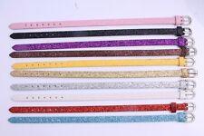 10pcs Wholesale  Shiny PU Leather Wristband Buckle Belt Bracelets fit beads MIX