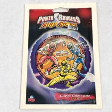 "Power Rangers Ninja Storm Birthday Party BALLOON Foul Mylar 18"" Round NEW"