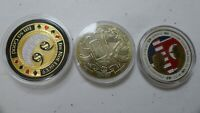 Donald Trump &  Kim Jong-Un Singapore Peace Talk Coin 2018 Ultra Rare & 2 coins