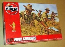 AIRFIX WW2 GURKHAS FROM NEPAL 1:72 SCALE (25mm) MODEL SOLDIERS UNPAINTED PLASTIC