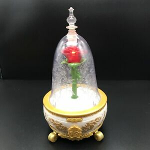Beauty and the Beast Enchanted Rose Lights Sounds Musical Jewellery Box Disney