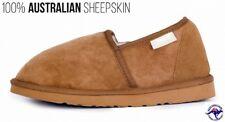 Mens Slippers Chestnut Brown Sheepskin Wool Indoor Casual Shoe Duke Male Slipper