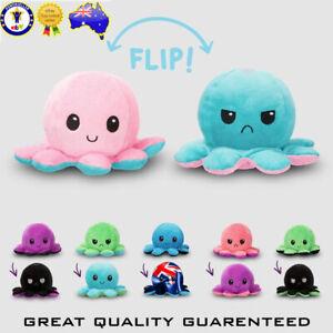 Octopus Plush Toy Double-Sided Octopus Flip Reversible Marine Life Animals Doll