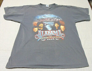 Alabama Country Music American Farewell Tour Band T-Shirt Size XL