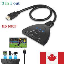 3 Port HDMI Switcher AV Switch Selector Adapter Converter Splitter Hub HDTV CA