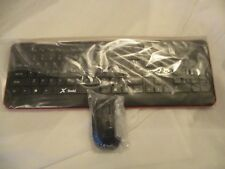 X-Dodd Ultra Slim USB Wireless Keyboard and Mouse for Computer Laptop PC Desktop