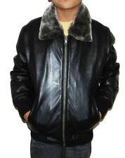 Vêtements noirs en cuir pour garçon de 2 à 16 ans